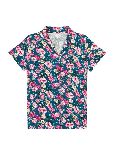 Penti Night Flowers Gömlek Pantolon Takımı Renkli
